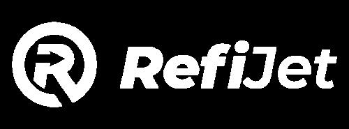 RefiJet Logo White